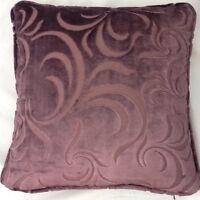 A 16 Inch Cushion Cover In Laura Ashley Ellison Grape Velvet Fabric