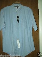 Tommy Hilfiger Men's Short Sleeves, Solid Cotton Shirt, Sz.L(US) 100% Authentic