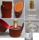 Ancien Flacon de parfum STEP VIEUX ROUEN vaporisateur dans son etui en cuir