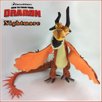 How to Train Your Dragon Plush Toy Monstrous Nightmare Yellow Stuffed Animal New