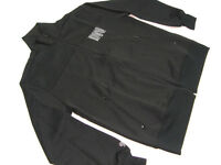 New DVS SHOE COMPANY 100% POLYESTER TRACK TOP BLACK SIZE LARGE MADE IN KOREA