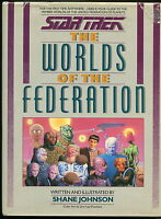 1989 Star Trek The Worlds of the Federation hard cover book