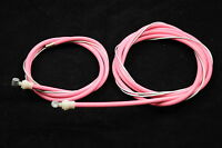 OLD SCHOOL BMX OR MODERN BMX PINK FRONT & REAR BRAKE CABLE SET BARREL END