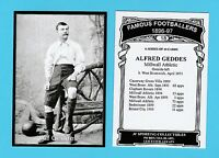 JF SPORTING - FAMOUS FOOTBALLER CARD 1896-97 -  ALFRED  GEDDES  OF  MILLWALL