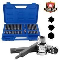 40pc Industrial S2 Power Hex Star Torx Socket Bit Set Hex Torx XZN Auto Tools