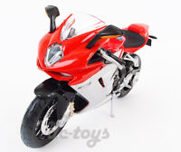 Maisto MV Aprilia Agusta F3 Super Bike Motorcycle 1:12 Red Silver