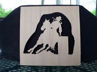 SCROLL SAW ART COWGIRL UP FACE RIGHT