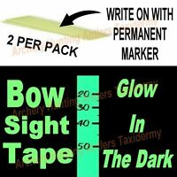 GLOW IN THE DARK Bow Sight TAPE Archery 2 PCS See Marking In Dark by CIR CUT New