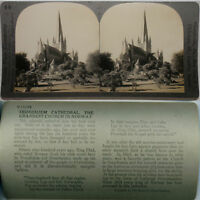 Keystone Stereoview of TRONDHJEM Cathedral in NORWAY From the 600/1200 Card Set