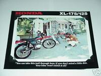 1978 Honda XL125 & XL175 Motorcycle Sales Brochure - Literature