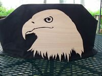 SCROLL SAW ART AMERICAN BALD EAGLE RIGHT