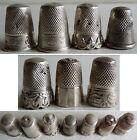Lot de 7 dé dés à coudre en argent massif 19e siècle silver thimble ART NOUVEAU
