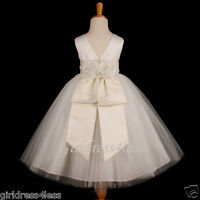 IVORY PRINCESS BRIDAL PICTURE BALL GOWN FLOWER GIRL DRESS 12M 2 4/4T 5/6 8 10 12