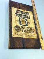 Miller beer sign 3-D tacker $1000 beer reward yourself  bar tavern pub FG7