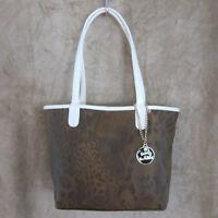 KATHY VAN ZEELAND Flip Out Reversible Oak Cheetah Shopper Handbag Purse Tote NWT