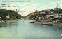 POSTCARD BRISTOL Clifton Suspension Bridge from Rownham