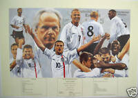 BECKHAM OWEN England 5 v Germany 1 World Cup Football Print AP48 by Patrick Loan