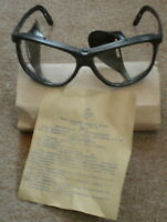 Soviet Russian Safety Industrial Protective Google Glasses Clear Lens Box Manual