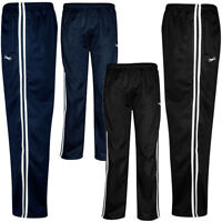 Mens New Silky Tracksuit Bottoms Casual Joggers Gym Jogging Pants Size