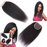 Nicewig 8A Virgin Brazilian Human Hair Lace Top Closure Italian Coarse Yaki Curl