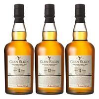 Glen Elgin Speyside 12 Years Jahre Single Pot Malt 3er Whisky Scotch 43% 700 ml