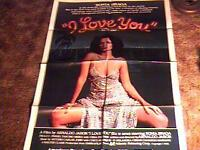 I LOVE YOU ORIG MOVIE POSTER 1981 SONIA BRAGA