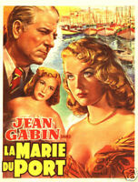 La Marie du port French vintage movie poster print