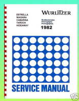 Wurlitzer 1982 Models Jukebox Service & Parts Manual