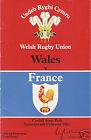 WALES v FRANCE 1984 RUGBY PROGRAMME