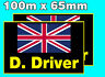 Rally Car Graphics / stickers. personalised name/s and flag/s x 2.