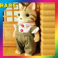 Sylvanian Families Striped Kitty Cat Father Figure RARE