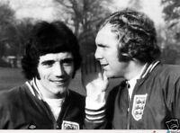 Kevin Keegan Bobby Moore England Legends 10x8 Photo