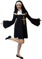 Short & sexy NUN FANCY DRESS from size 6-24 Fab Nun Fun
