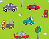 SOFT COTTON CLOTHWORK BEDDING BABY KID FABRIC CUTE COMBINATE CARS CHECK  44'WIDE