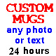 PERSONALISED CUSTOM MUG, ANY PHOTO, TEXT OR LOGO