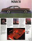 1975 Chevrolet Nova and Chevy SS 16-page Original Car Sales Brochure Catalog