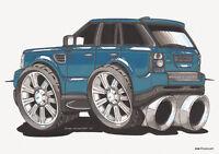 KOOLART - RANGE ROVER SPORT - MOUSE MAT / PAD - BLUE