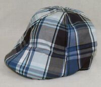 Brand New With Tags Elm Company CAMPUS Fitted Hat Blue Plaid RARE Limited