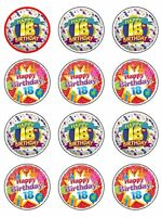 18th birthday Cake Edible Icing CupCake Toppers