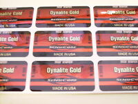 9 True Temper Dynalite Gold  Sensicore R300 SHAFT BAND LABELS