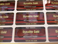 9 True Temper Dynalite Gold  Sensicore S300 SHAFT BAND LABELS