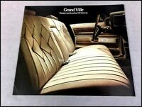 1973 Pontiac Grand Ville and convertible Original Car Sales Brochure Folder