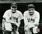 LOU GEHRIG BABE RUTH LICENSED 8X10 PHOTO YANKEE LEGENDS