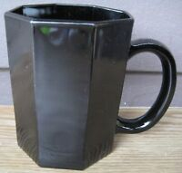 Arcoroc Octime Black 1 Coffee Cup Mug Sided France Nice