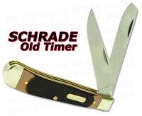 Schrade Old Timer Delrin Lrg Trapper 2-Blade Knife 95OT