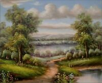 Quality Hand Painted Oil Painting Landscape – Path to River 8x10in