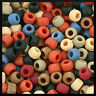 """200 Americana Colonial Multi Colors Pony Beads The Beadery USA 3/8"""" 9mm ABCraft"""