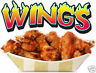 Chicken Wings Concession Restaurant Food Truck Vinyl Menu Sign Decal 14""