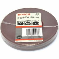 "50 BOSCH FIBRE SANDING DISCS 100MM 80G FOR 4"" ANGLE GRINDER - MADE IN GERMANY"
