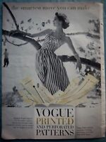 1957 Vogue Printed and Perforated Dress Patterns Ad